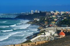 Vista dal EL Morro Fotografia Stock Libera da Diritti