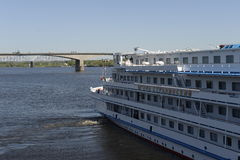 Vista dal fiume Volga Fotografie Stock