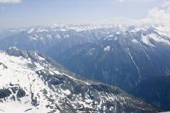 Vista dal ghiacciaio di Hintertux ad Al austriaco Fotografie Stock Libere da Diritti