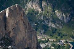 Vista dal ghiacciaio di Marmolada, Italia Fotografie Stock Libere da Diritti