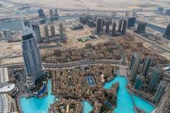 Vista dal khalifa di Al del burj, Doubai fotografia stock