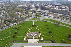 Vista dal memoriale nazionale massonico di Washington Fotografia Stock