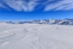 Vista dal Mt Fronalpstock nell'inverno Fotografia Stock