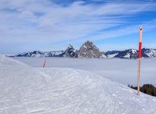 Vista dal Mt Fronalpstock nell'inverno Immagini Stock Libere da Diritti