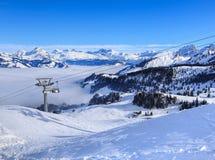 Vista dal Mt Fronalpstock nell'inverno Fotografia Stock Libera da Diritti