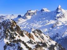 Vista dal Mt Fronalpstock in Svizzera nell'inverno Fotografia Stock