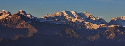 Vista dal Mt Niederhorn, Svizzera Immagini Stock Libere da Diritti