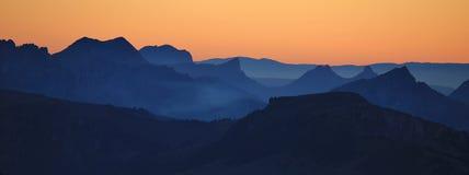 Vista dal Mt Niesen al tramonto Fotografia Stock