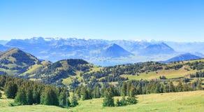 Vista dal Mt. Rigi Immagine Stock
