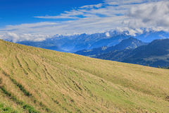 Vista dal Mt Rigi nelle alpi svizzere Fotografia Stock