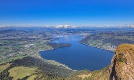 Vista dal Mt Rigi in Svizzera Immagine Stock Libera da Diritti