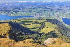 Vista dal Mt Rigi in Svizzera Immagine Stock