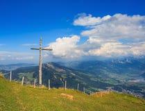 Vista dal Mt Rigi in Svizzera Fotografia Stock Libera da Diritti