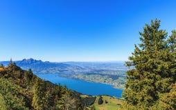 Vista dal Mt Rigi in Svizzera Fotografie Stock Libere da Diritti