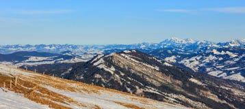 Vista dal Mt Rigi in Svizzera nell'inverno Fotografia Stock Libera da Diritti