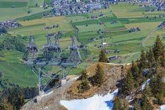 Vista dal Mt Stanserhorn nelle alpi svizzere Fotografia Stock Libera da Diritti