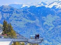 Vista dal Mt Stanserhorn in Svizzera Immagini Stock