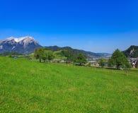Vista dal Mt Stanserhorn in Svizzera Fotografie Stock Libere da Diritti