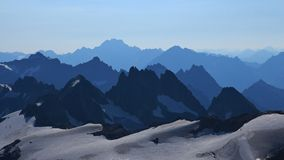 Vista dal Mt Titlis Fotografia Stock Libera da Diritti