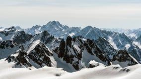 Vista dal Mt Titlis nell'inverno Titlis è una montagna di Uri Fotografie Stock Libere da Diritti
