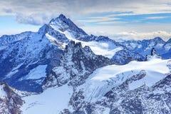 Vista dal Mt Titlis nelle alpi svizzere Fotografia Stock Libera da Diritti