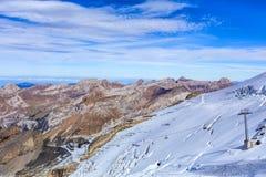 Vista dal Mt Titlis nelle alpi svizzere Fotografie Stock