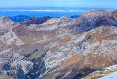 Vista dal Mt Titlis nelle alpi svizzere Immagine Stock Libera da Diritti