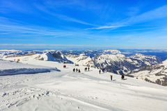 Vista dal Mt Titlis in Svizzera Fotografia Stock Libera da Diritti