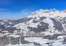 Vista dal Mt Titlis in Svizzera Fotografie Stock Libere da Diritti