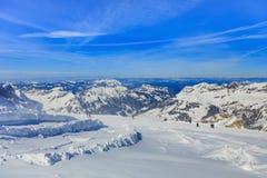 Vista dal Mt Titlis in Svizzera Fotografia Stock