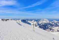Vista dal Mt Titlis in Svizzera Immagini Stock