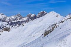 Vista dal Mt Titlis in Svizzera nell'inverno Fotografia Stock Libera da Diritti