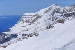 Vista dal Mt Titlis in Svizzera nell'inverno Immagine Stock