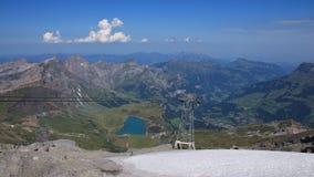 Vista dal Mt Titlis verso Engelberg Immagine Stock Libera da Diritti