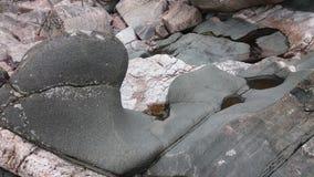 Vista dal nostro arcipelago ed il suo tipo differente di granito Fotografie Stock Libere da Diritti