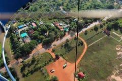 Vista dal pallone alla terra Immagine Stock