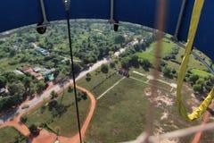 Vista dal pallone alla terra Fotografia Stock Libera da Diritti