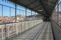 Vista dal passaggio pedonale di Santa Justa Lift. Lisbona. Il Portogallo Fotografia Stock
