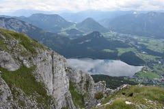 Vista dal perdente sopra Aussee in Austria Fotografia Stock