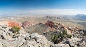 Vista dal picco di Turtlehead nel parco rosso del canyon della roccia Fotografie Stock Libere da Diritti