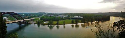 Vista dal ponte 360 fotografie stock