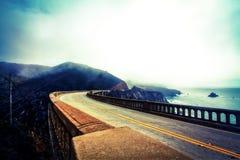 Vista dal ponte bixby Fotografie Stock Libere da Diritti