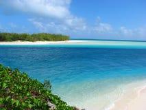 Vista dal ponticello in Ouvea, Nuova Caledonia di Mouli Fotografia Stock