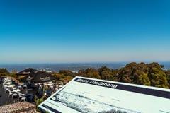 Vista dal ristorante molto in alto al supporto Dandenong Immagine Stock Libera da Diritti