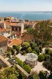Vista dal san George Castle a Lisbona Fotografie Stock Libere da Diritti