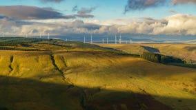 Vista dal A4061 sopra Mynydd Tyle Goch, Rhondda Cynon Taf, Mid Glamorgan, Galles, Regno Unito immagini stock