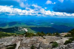 Vista dal supporto Chocorua New Hampshire fotografie stock libere da diritti