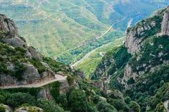 Vista dal supporto Montserrat fotografia stock libera da diritti