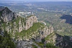 Vista dal supporto Montserrat vicino a Barcellona, Spagna Fotografia Stock Libera da Diritti