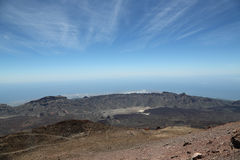Vista dal supporto Teide su Tenerife Fotografia Stock Libera da Diritti